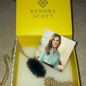 Kendra Scott Rayne tassel necklace Navy and gold